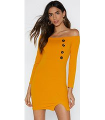 womens knock on wood mini dress - mustard