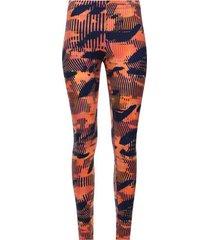 legging deportivo estampado fondo naranja color naranja, talla xs