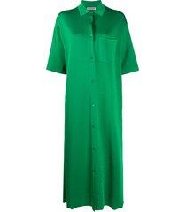 balenciaga midi shirt dress - green