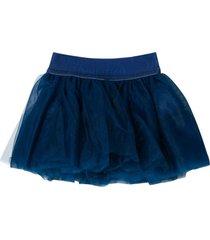 monnalisa blue tulle skirt