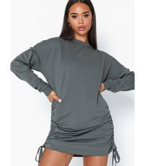 nly trend drawstring sweat dress loose fit dresses