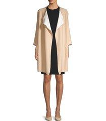 donna karan women's open-front cardigan - camel ivory - size xs/s
