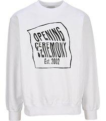 opening ceremony warped logo sweatshirt