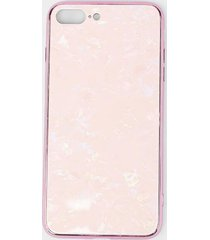pink tempered glass iphone case - blush