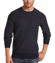 joseph abboud dark indigo blue dot crew neck sweater