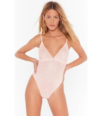 womens just bling yourself diamante mesh bodysuit - nude