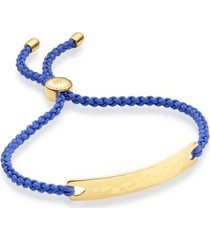 havana friendship bracelet- cornflower blue, gold vermeil on silver