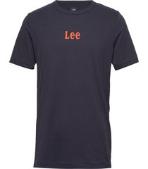 small logo tee t-shirts short-sleeved blå lee jeans