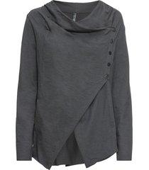 maglia a maniche lunghe con abbottonatura diagonale (grigio) - rainbow