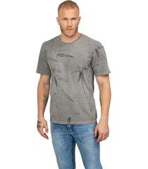 camiseta masculina careca floral cinza - cinza - masculino - dafiti