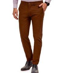 pantalón twill slim l/31 marrón ferouch