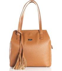 bolso tipo shopping color miel de mujer cosmos 100097