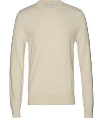 m. cotton merino basic sweater gebreide trui met ronde kraag crème filippa k