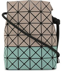 bao bao issey miyake geometric panel drawstring bag - brown