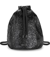 meadow textured drawstring backpack