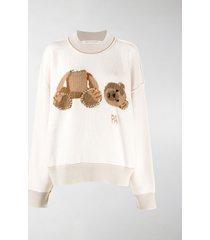 palm angels intarsia-knit jumper