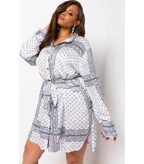 akira plus gone with the wind long sleeve bandana printed mini dress