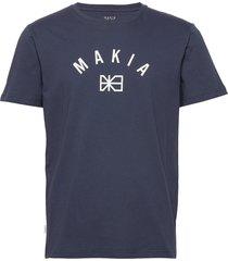 brand t-shirt t-shirts short-sleeved blå makia