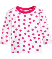 camiseta blade and rose manga longa bolas rosas - rosa - menina - algodã£o - dafiti