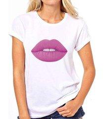 camiseta coolest batom roxo feminina