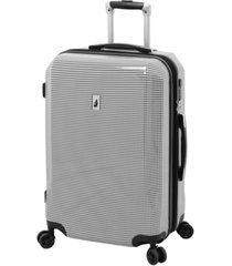 "london fog cambridge 24"" expandable hardside spinner suitcase"