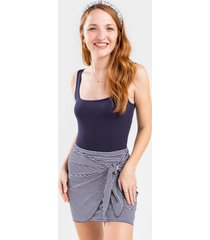 elsa side knot mini skirt - navy