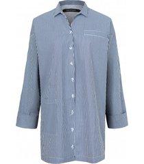 koszula w niebieskie prążki