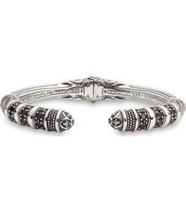 women's konstantino circe black spinel hinged cuff bracelet