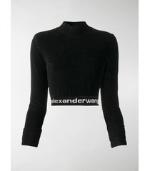 t by alexander wang corduroy cropped sweatshirt