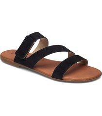 biabrooke strap sandal shoes summer shoes flat sandals svart bianco