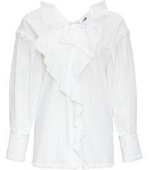 blouse with ruffles detail