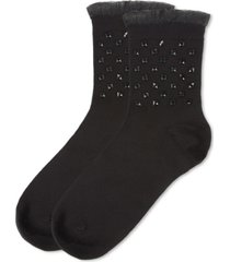 punk rock studded fashion women's crew socks