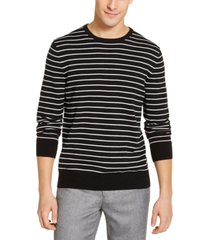 calvin klein men's striped liquid sweater