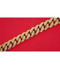 miami cuban link bracelet 80 grams 10k solid yellow gold 6 carat diamonds video