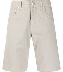 jacob cohen straight leg cargo shorts - neutrals