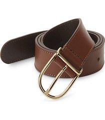 slim leather belt
