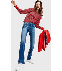 jeans tommy jeans recto azul - calce regular