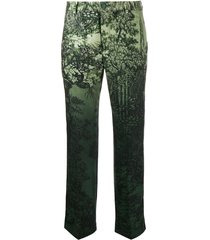 f.r.s for restless sleepers low rise printed trousers - green