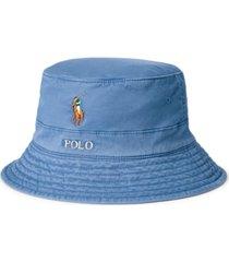 polo ralph lauren men's stretch-cotton twill bucket hat