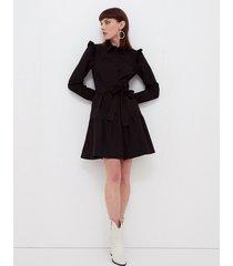 motivi vestito chemisier in popeline donna nero