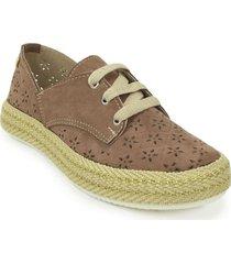 zapato casual yute dama 692202cocoa