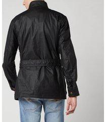 belstaff men's trialmaster jacket - black - it 56/xxxl
