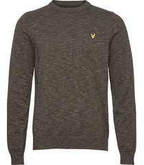 cotton knitted crew neck jumper gebreide trui met ronde kraag groen lyle & scott