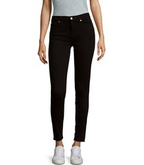 7 for all mankind women's the skinny jeans - black - size 26 (2-4)