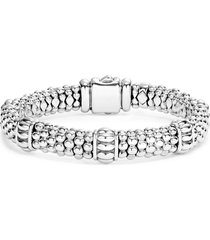 women's lagos fluted station caviar rope bracelet