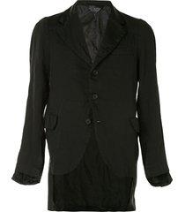 black comme des garçons satin-panelled jacket