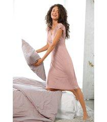 zijden nachtjapon uit organic silk, donkerolijf 36/38