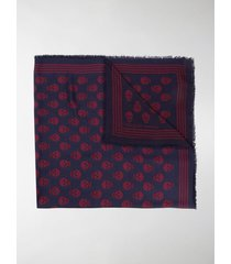alexander mcqueen skull-motif fringed scarf