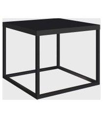 mesa quadrada cube p preto/preto artesano