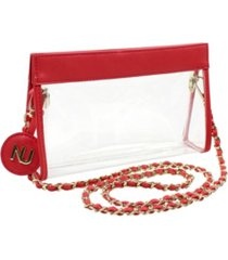 nu women zoe braided chain strap clear purse